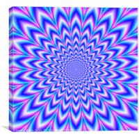 Crinkle Cut Pulse in Blue Pink and Violet, Canvas Print