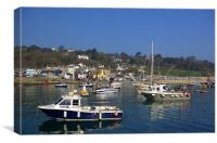 Lyme Regis Harbour from The Cobb, Canvas Print