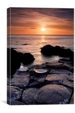 The Giants Causeway, Canvas Print