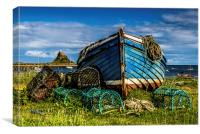 The Magpie, Holy Island, Canvas Print