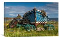 """""""The Magpie"""" on Holy Island , Canvas Print"""