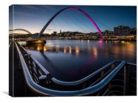 The Millennium Bridge, Gateshead, Canvas Print