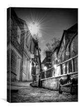 The Leaning Lamp post, Canvas Print
