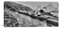 Laxey Harbour , Canvas Print