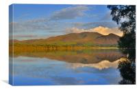 The Lake District: Skiddaw Reflections, Canvas Print