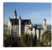 Neuschwanstein, Canvas Print