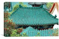 Temple Roofs, Canvas Print