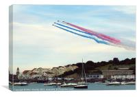 Arrows over Swanage, Canvas Print