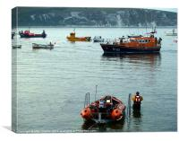 Swanage Lifeboats, Canvas Print