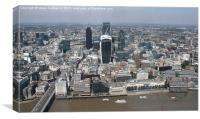 City limits from the Shard, Canvas Print