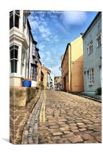 Ye Old Cobbled High Street, Canvas Print