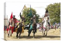 Jousting Knights, Canvas Print