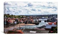 Historic Whitby Harbour, Canvas Print