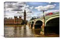 Old farther Thames , Canvas Print
