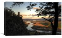 Kinnoull Hill, Perth - sunset, Canvas Print
