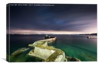 St Monans harbour and walkway, Canvas Print