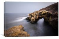 Saddle Rock, Cullercoats Bay, North Tyneside, Canvas Print