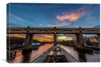 High Level Bridge, Newcastle Upon Tyne, Canvas Print