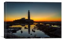 Never sleeping St Mary's Lighthouse, Canvas Print