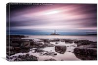 Streaking past St Mary's Lighthouse, Canvas Print