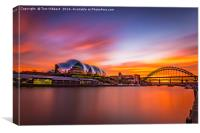 Sage and Tyne sunset, Canvas Print