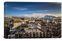 Chimneys and Roof Tops across Newcastle Upon Tyne, Canvas Print