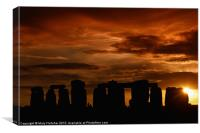 Evening at Stonehenge, Canvas Print