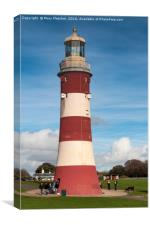Semitone's Tower, Plymouth Hoe, Canvas Print
