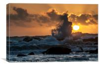 Wave at Sunset, Canvas Print