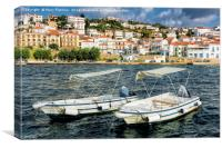 Boats for Hire, Pylos, Canvas Print