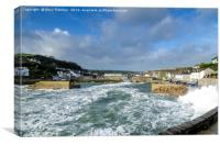 Porthleven Harbour, Cornwall, Canvas Print