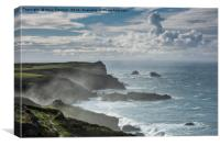 Misty North Coast, Cornwall, Canvas Print