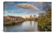 The River Severn, Canvas Print