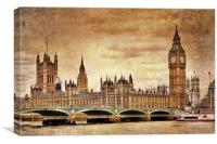The Houses of Parliament, Canvas Print