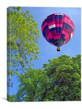 Balloon in flight, Canvas Print