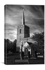 A moody shot of Cottered Church, Canvas Print