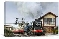 Tornado passing Wansford Signal box, Canvas Print