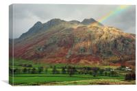 Rainbow on the Langdale Pikes, Canvas Print
