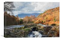 View from Ashness Bridge to Skiddaw, Canvas Print