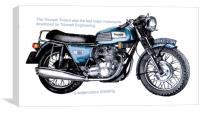 A 1960's British Motorcycle, Canvas Print