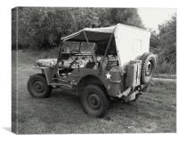 A Willys Jeep, Canvas Print