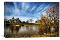 Harty Church Isle of Sheppey Kent, Canvas Print