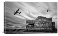 WW2 Pill Box, Canvas Print