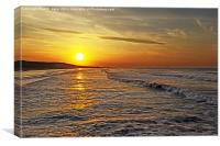 Golden Glow Saltburn, Canvas Print