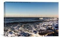 Redcar Wind Farm, Canvas Print