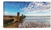 Redcar Sea Defence, Canvas Print