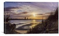 Tees Bay Sunset, Canvas Print