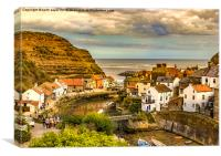 Staithes the popular view, Canvas Print