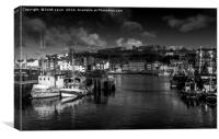 Whitby Harbour, Canvas Print