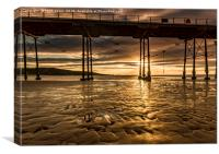 Saltburn Gold, Canvas Print